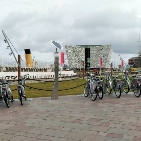 View of the Titanic Museum and the SS Nomadic - also, note the Belfast Bikes for hire if you fancy doing your own cycle tour of the city!
