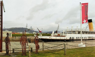 SS Nomadic with Cave Hill in the background