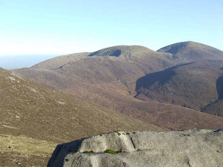 VIEW ACROSS THE MOURNES FROM SLIEVE BEARNAGH