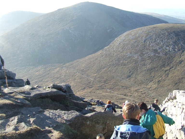 THE DESCENT FROM SLIEVE BEARNAGH