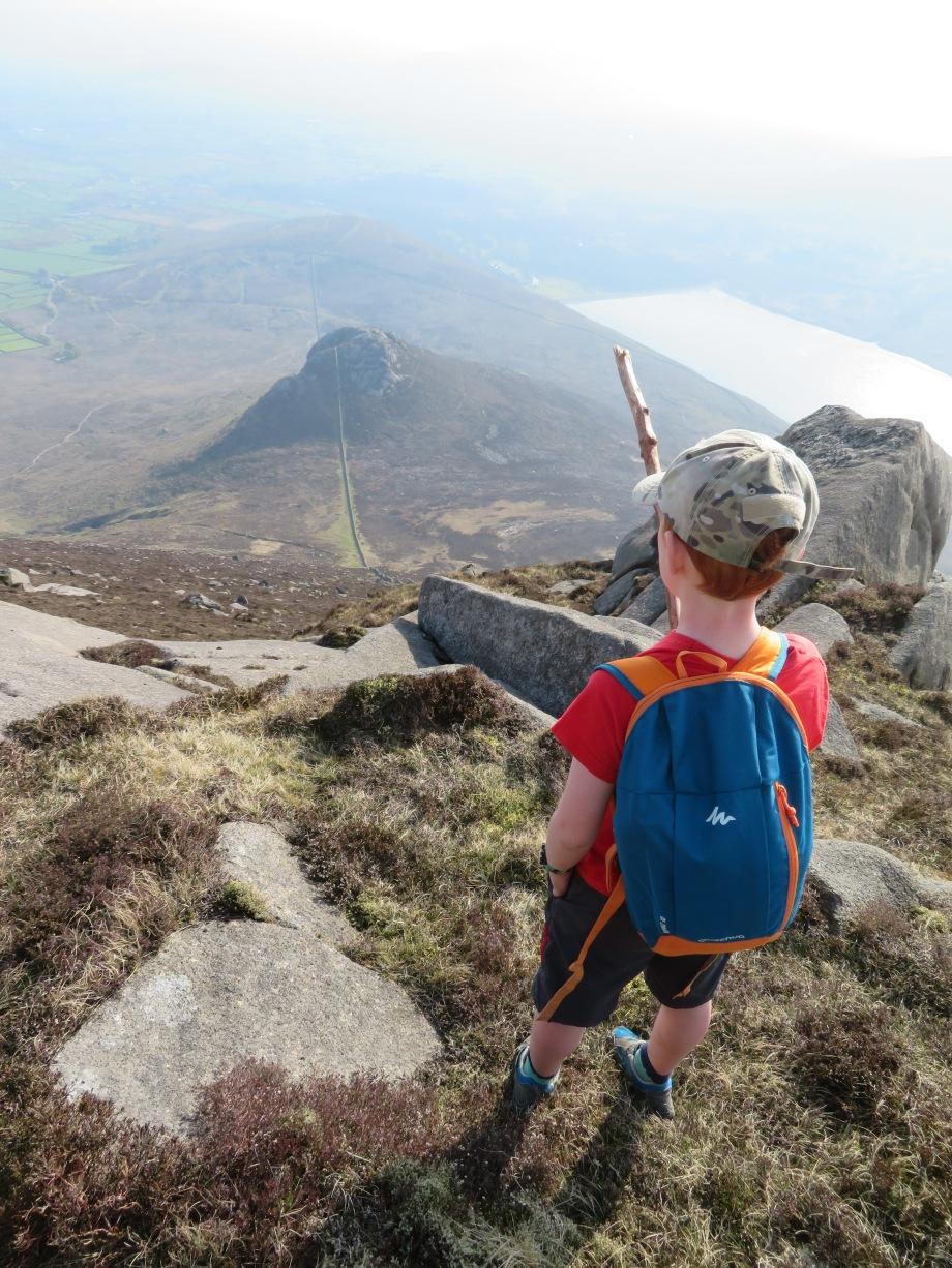 Descending Binnian - the steep way!